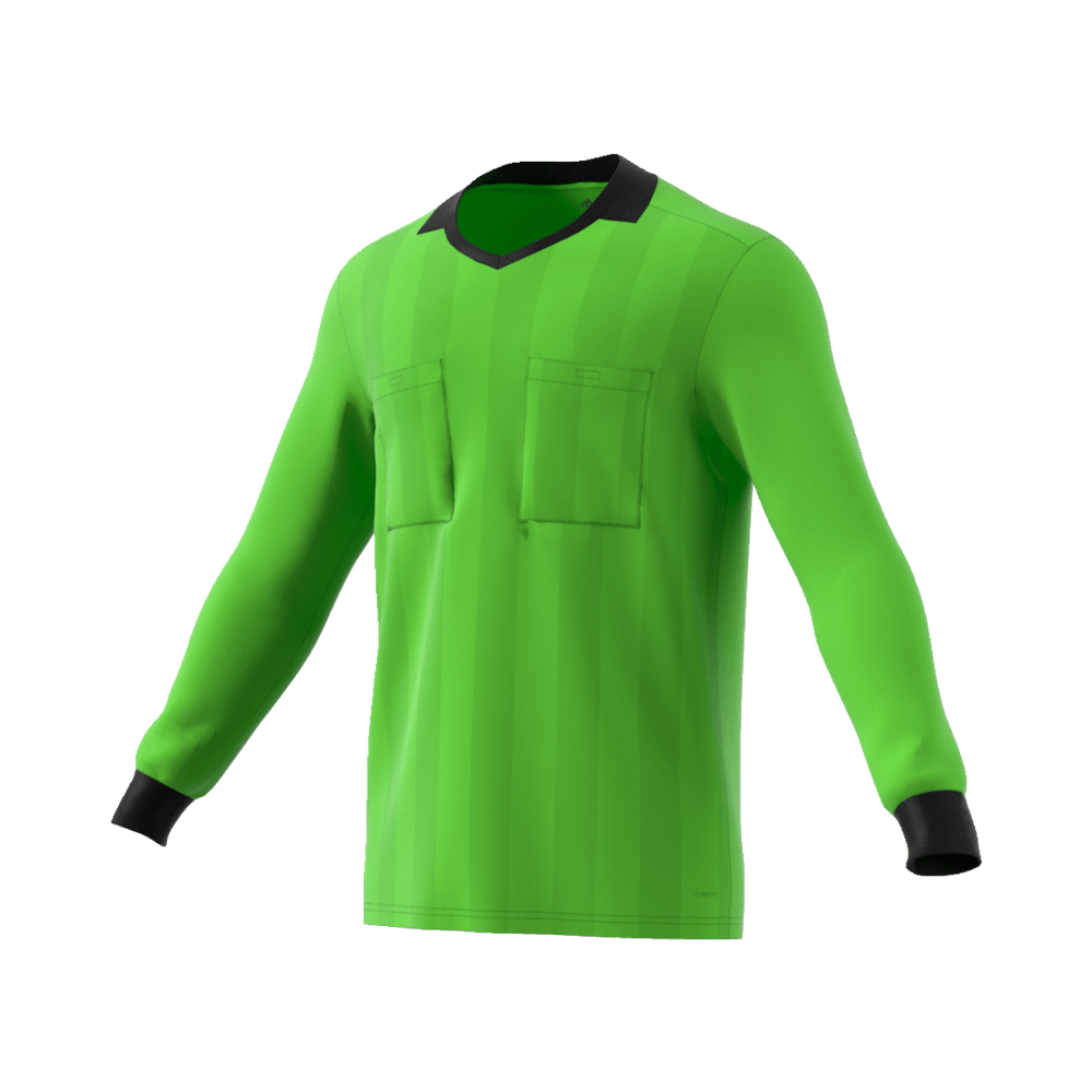 90c41f697 Adidas 18 Long Sleeve Referee Jersey - Semi Solar Green – Whistler ...