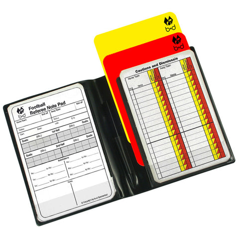 b+d Referee Cards Set