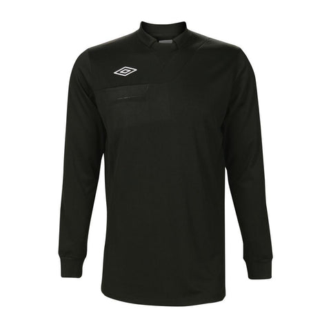 ** Large ** Umbro National Long Sleeve Referee Jersey - Black (Clearance)