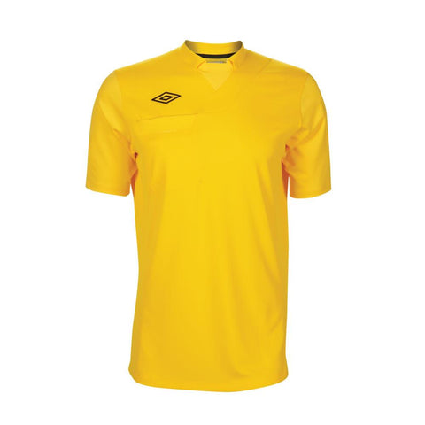 ** Large ** Umbro National Short Sleeve Referee Jersey - Yellow (Clearance)