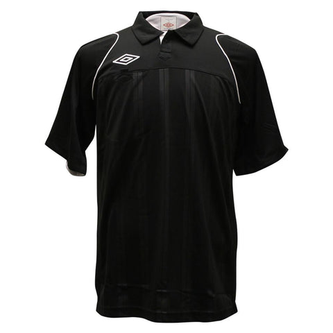 ** Small ** Umbro Premiership II Short Sleeve Referee Jersey - Black Small (Clearance)