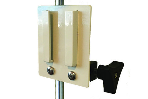 Universal Bracket on IV Pole Clamp