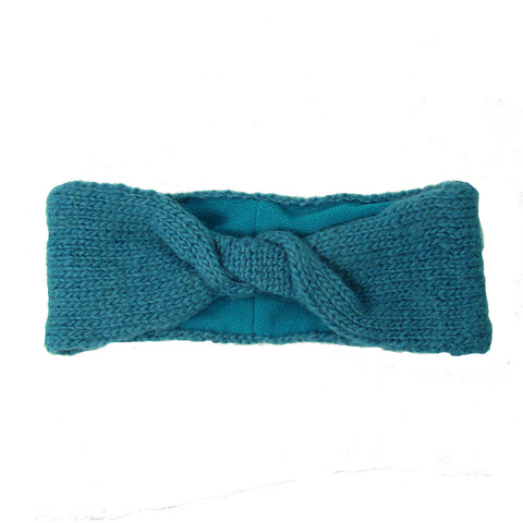 Lined Twist Headband - Teal Handmade and Fair Trade