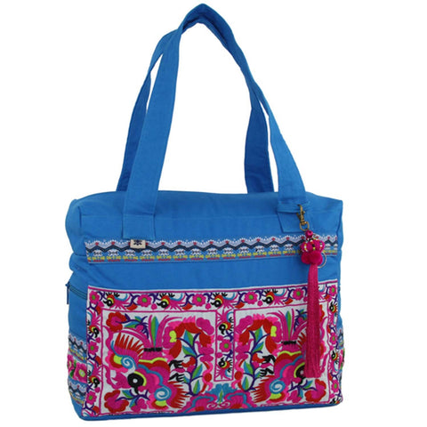 Hmong Retreat Bag - Turquoise - Global Groove (B)