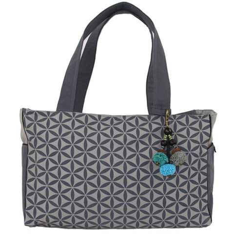 Flower of Life Every Day Bag Grey/Grey - Global Groove (B)