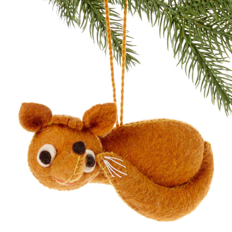 Fox Felt Holiday Ornament - Silk Road Bazaar (O)