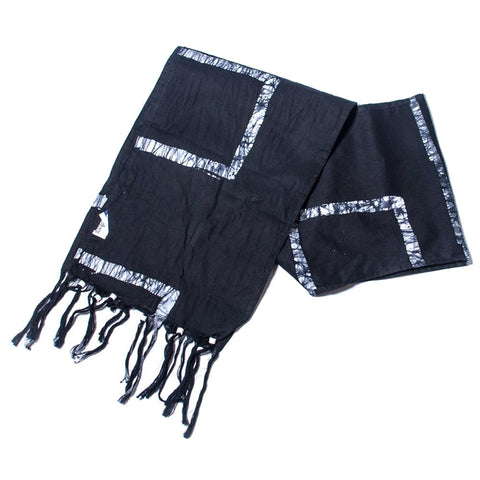 Batiked Scarf - Black - World Peaces (S)