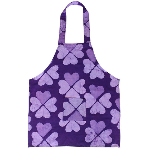 Kids Apron - Hearts Purple - Global Mamas (C)