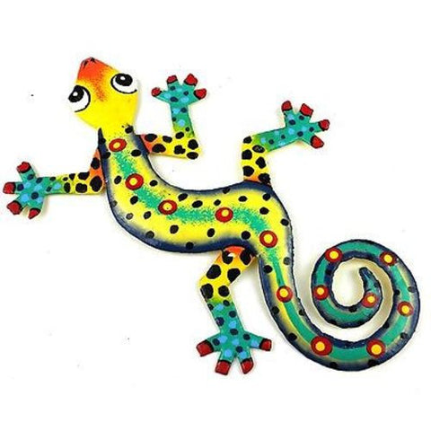 Eight Inch Jazz Hands Metal Gecko - Caribbean Craft