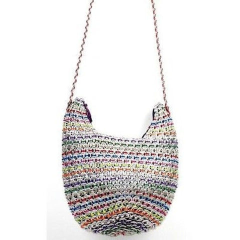 Hobo Recycled Poptop Bag - Multicolor Handmade and Fair Trade