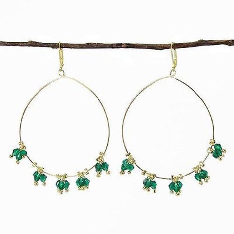 Delicate Droplet Earrings in Teal Handmade and Fair Trade
