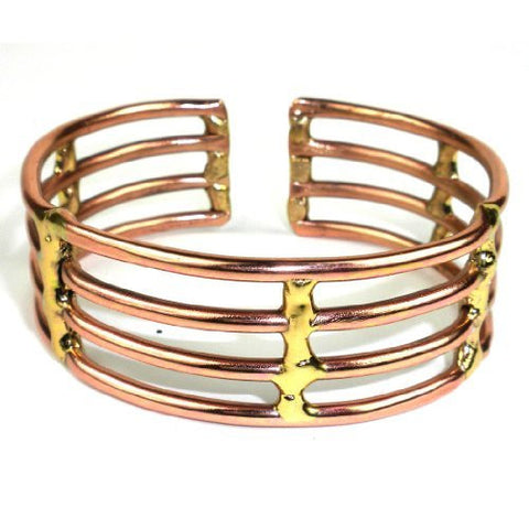 Copper and Brass Window Cuff - Brass Images