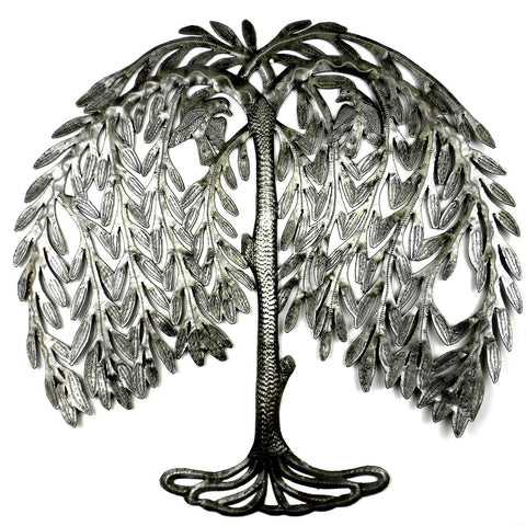 Weeping Willow Metal Art Handmade and Fair Trade