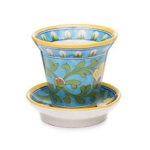 Blue Pottery Planter - Turquoise - Matr Boomie (Pottery)
