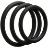 Doc Johnson - Optimale 3 Cock Ring Set Thin (Black) - PleasureHobby