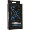 Doc Johnson - Optimale Vibrating Double Cock Ring (Black) - PleasureHobby