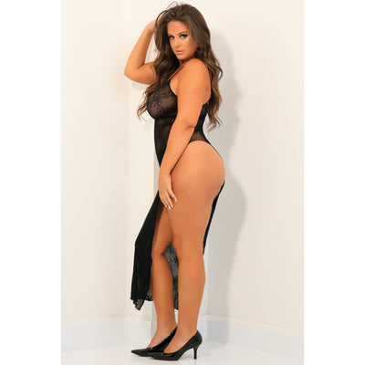 Rene Rofe - Take The Heat Lace Gown Costume Queen (Black)