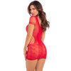 Pink Lipstick - Time 2 Slay Mini Dress Costume OS (Red)