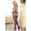 Rene Rofe - Quarter Crochet Net Bodystocking Costume Queen (Black)