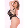Pink Lipstick - All Access Pass Bodystocking Costume Queen (Black)