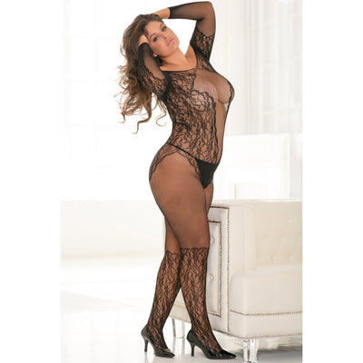 Rene Rofe - Make You Melt Bodystocking Costume Queen (Black) Costumes PleasureHobby