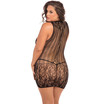 Rene Rofe - Reckless Lace Mini Dress Costume Queen (Black)