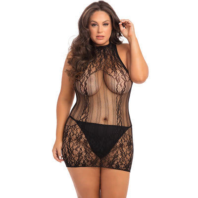 Rene Rofe - Reckless Lace Mini Dress Costume Queen (Black) Costumes PleasureHobby