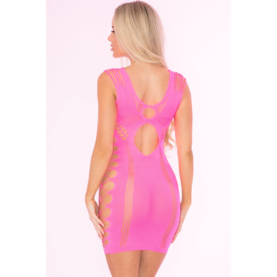 Pink Lipstick - Full Of Shred Mini Dress Costume OS (Pink)