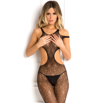 Rene Rofe - Made The Cut Bodystocking Costume OS (Black)