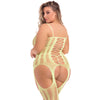 Pink Lipstick - Fake News Bodystocking Costume Queen (Yellow)