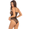 Rene Rofe - Undone See Through Bodysuit Costume OS (Black)