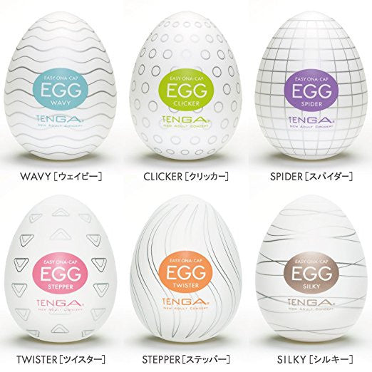 Tenga - Masturbator Egg Value Pack (6 Tenga Eggs) - PleasureHobby