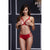 Baci - Red Strappy Open Cup Bra Set & Panty One Size