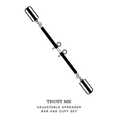 Fifty Shades of Grey - Trust Me Adjustable Spreader Bar and Cuffs Set - PleasureHobby