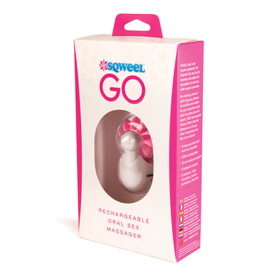 Lovehoney - Sqweel Go Oral Sex Toy Clit Massager (White) - PleasureHobby Singapore