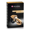 Mystim - Pubic Enemy No 1 Electrosex Cock Cage (Gold) - PleasureHobby