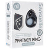 NU - Sensuelle Rechargeable Remote Control Partner Cock Ring (Black) - PleasureHobby