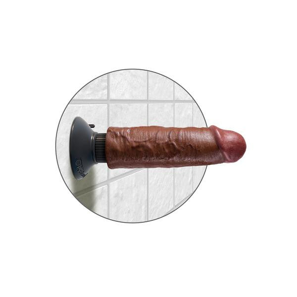 "Pipedream - King Cock 6"" Vibrating Cock (Brown) - PleasureHobby"