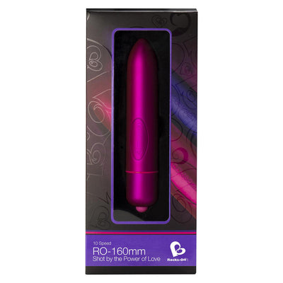 RockOff - 10 Speed RO-160mm Bullet Vibrator (Pink) Non Realistic Dildo w/o suction cup (Vibration) Non Rechargeable PleasureHobby