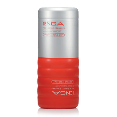 Tenga - Double Hole Cup Masturbator Masturbator Non Reusable Cup (Non Vibration) PleasureHobby