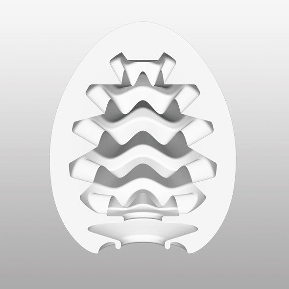 Tenga - Wavy Masturbator Egg - PleasureHobby Singapore