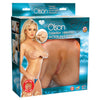 Topco - Bree Olson Cyberskin Vibrating Suction-Base Pussy & Ass Masturbator - PleasureHobby