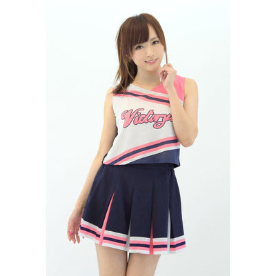 A&T - Lovely Cheerleader Costume (Multi Colour) | CherryAffairs Singapore