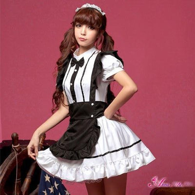 Anna Mu - 3 Pieces Formal Shirt Costume Set NA11030292 (White) Costumes PleasureHobby