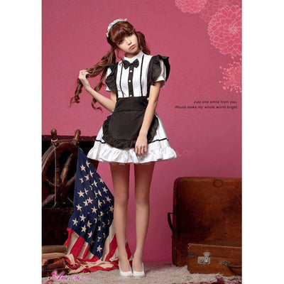 Anna Mu - 3 Pieces Formal Shirt Costume Set NA11030292 (White) | CherryAffairs Singapore
