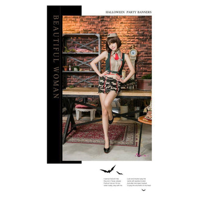 Anna Mu - 4 Piece Battle Dress Costume Set NA12030125 (Black) | CherryAffairs Singapore