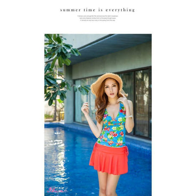 Anna Mu - Swimsuit NA12070028 (Blue) | CherryAffairs Singapore