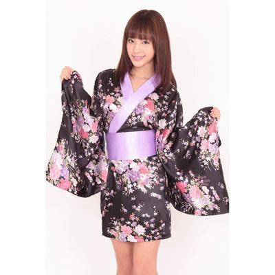 BeWith - Oiran Japanese Kimono Costume (Multi Colour) | CherryAffairs Singapore