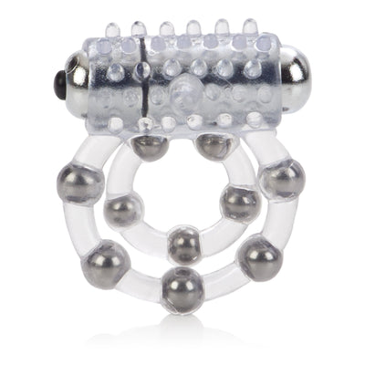 California Exotics - 10 Bead Maximus Cock Ring (White) | CherryAffairs Singapore