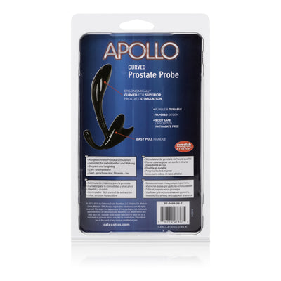 California Exotics - Apollo Curved Prostate Probe Massager (Black) | CherryAffairs Singapore